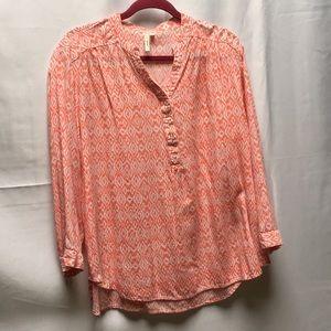 Grand & Greene V Neck Print Tunic Size 1X